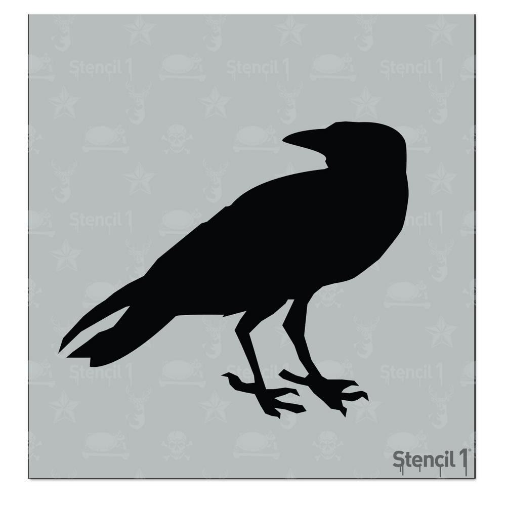 RE-USABLE 8.5 X 7.5 INCH CROW 2 STENCIL
