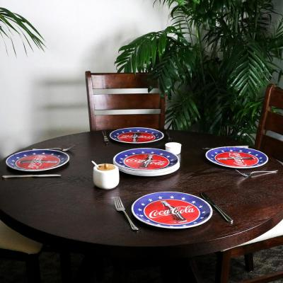 Americana 10.5 in. Blue Dinner Plate (Set of 12)