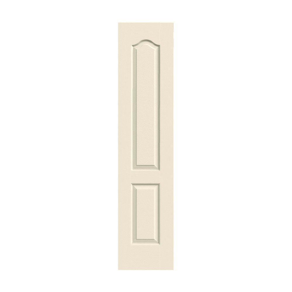 JELD-WEN 18 in. x 80 in. Camden Primed Textured Solid Core Molded Composite MDF Interior Door Slab