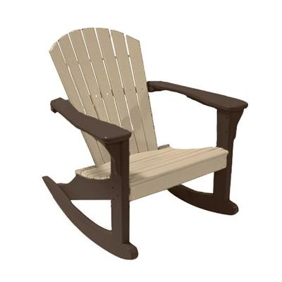 Sandstone on Mocha Poly-Lumber Outdoor Rocking Chair