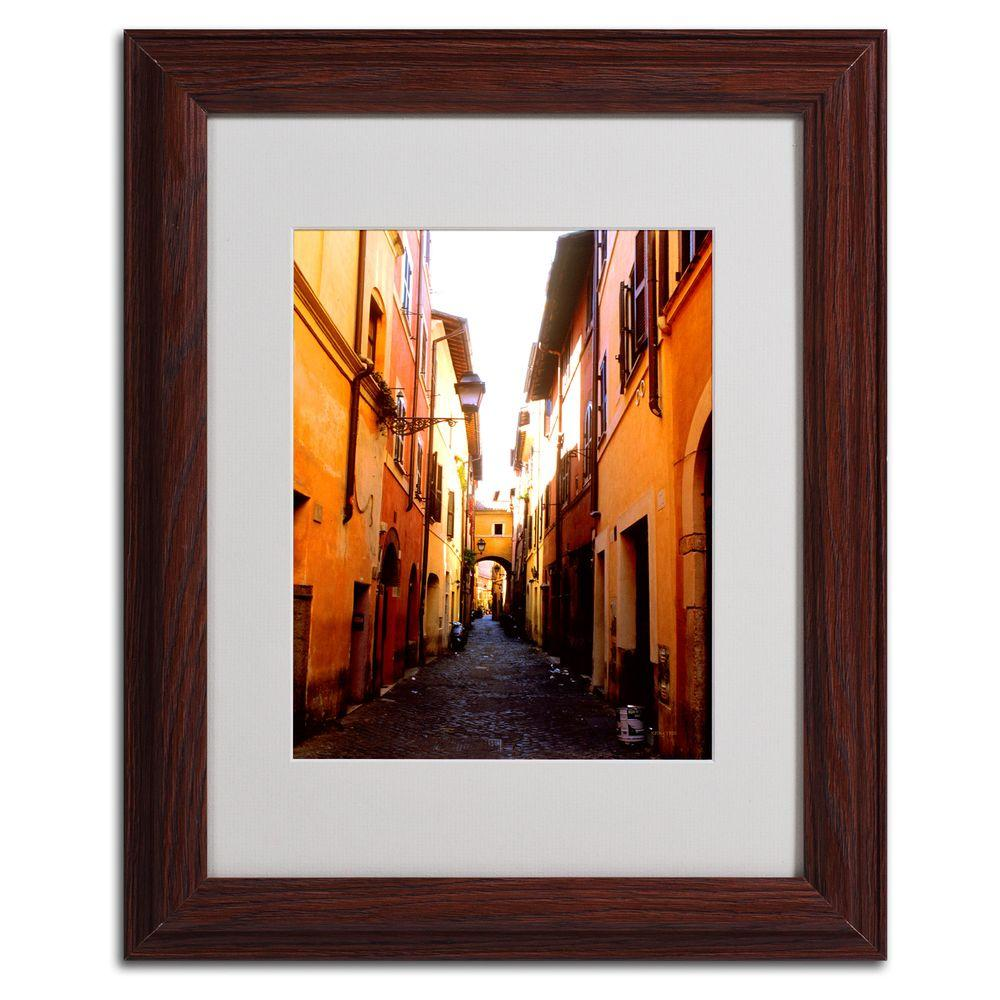 11 in. x 14 in. Campo De Fiori Alley Matted Framed