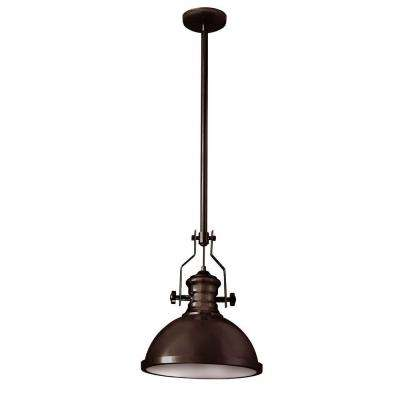 Nasquin 1-Light Vintage Oiled Bronze Pendant