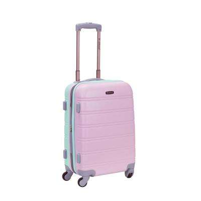 Melbourne 20 in. Expandable Carry on Hardside Spinner Luggage, Mint