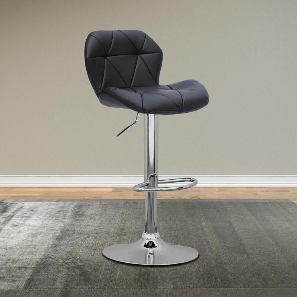 Outstanding Corliving 43 In H Adjustable White Leatherette Square Pdpeps Interior Chair Design Pdpepsorg