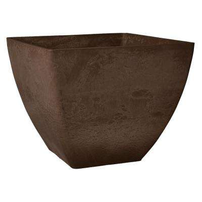 Simplicity Square 16 in. x 16 in. x 13 in. Chocolate PSW Pot