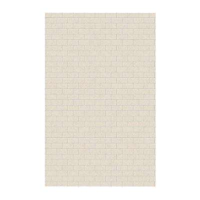 Subway Tile 62 in. x 96 in. 1-Piece Easy Up Adhesive Shower Panel in Tahiti Sand