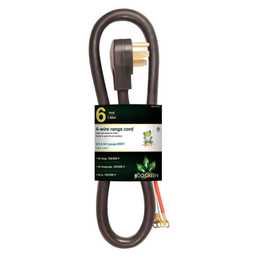 6 ft. 6/1 4-Wire Range Cord