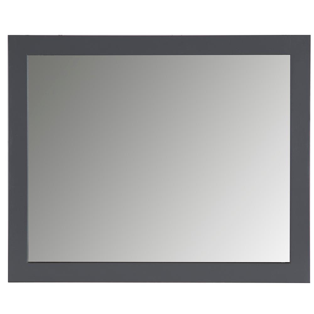 31 in. W x 26 in. H Framed Rectangular Bathroom Vanity Mirror in Graphite