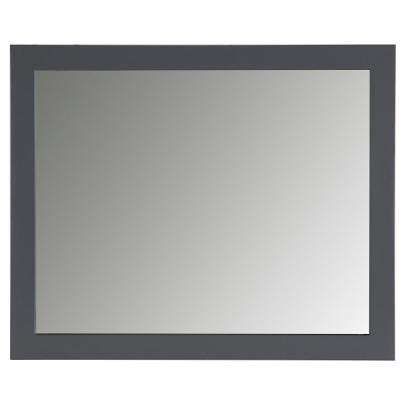 Austell 31 in. x 26 in. Wall Mirror in Graphite Gray