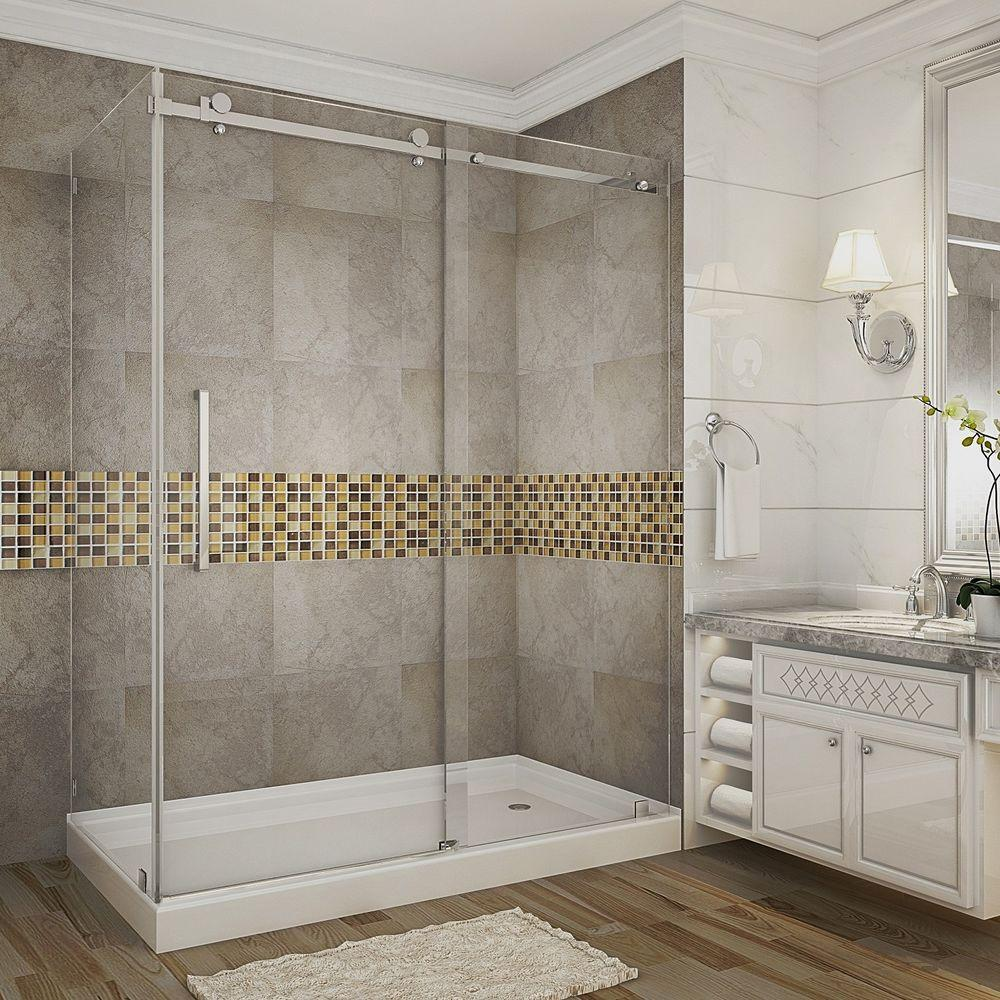 Moselle 60 in. x 35 in. x 77.5 in. Completely Frameless
