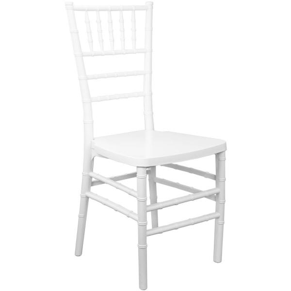 Advantage White Monoblock Resin Chiavari Chair RSCHI-MONO-W