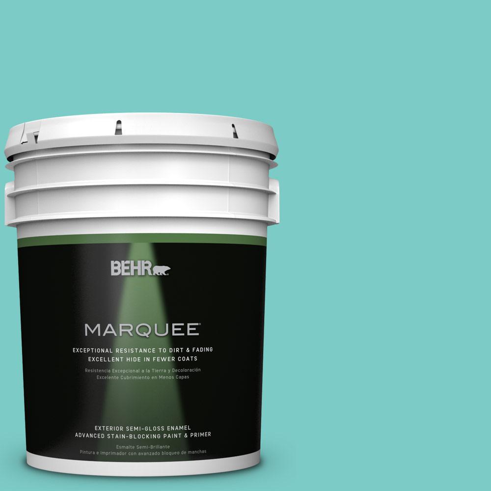 5-gal. #BIC-39 Blue Green Gem Semi-Gloss Enamel Exterior Paint