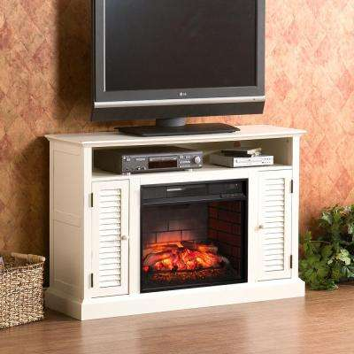 Ontario 48 in. W Infrared Media Electric Fireplace in Antique White