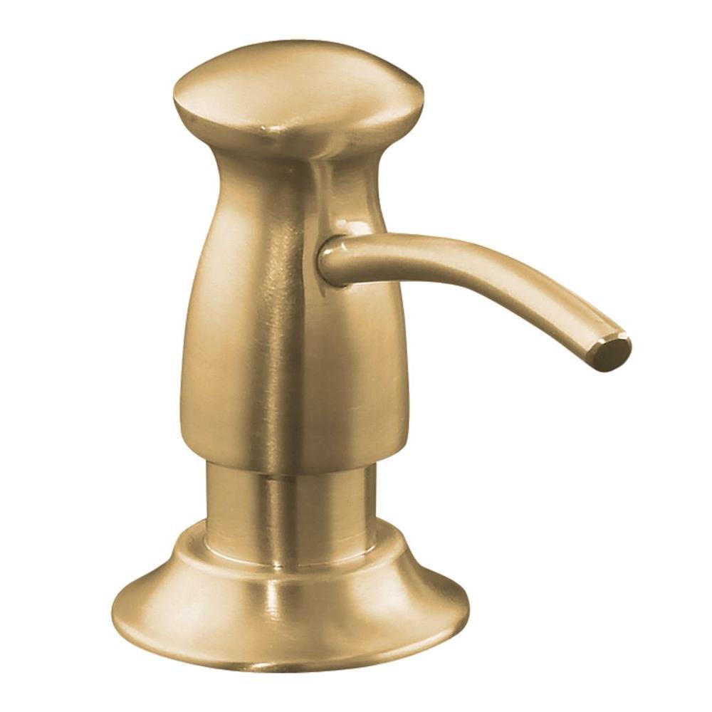 Kohler soap lotion dispenser in vibrant brushed bronze k for Vibrant brushed bronze bathroom lighting