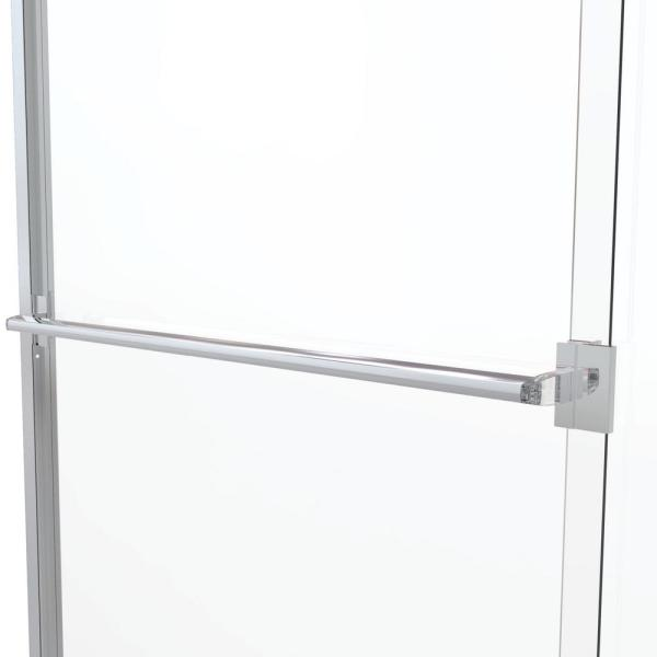 Basco Classic 44 In X 65 1 2 In Semi Frameless Sliding Shower Door In Chrome Clch05a4465clsv The Home Depot