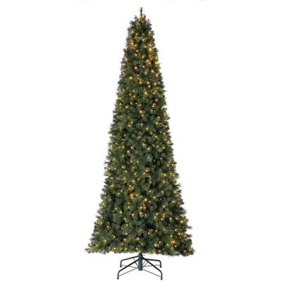 7 ft. Pre-Lit PVC Artificial Half Christmas Tree with Folding Stand
