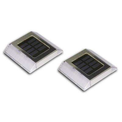 Stainless Steel Integrated 2-LED Solar Deck and Path Light (2-Pack)