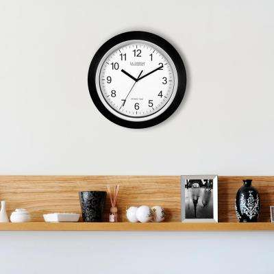10 In H Round Atomic Og Wall Clock Black