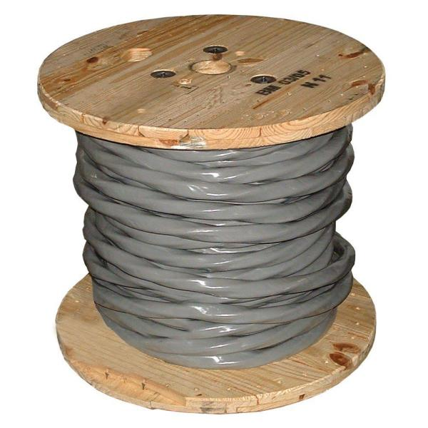 500 ft. 4/0-4/0-4/0-2/0 Gray Stranded AL SER Cable