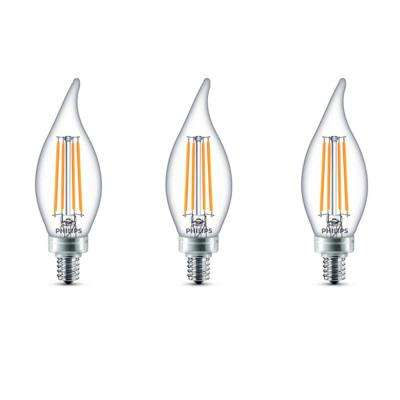 40-Watt Equivalent B11 Dimmable LED Bent Tip Candle Light Bulb Soft White (3-Pack)