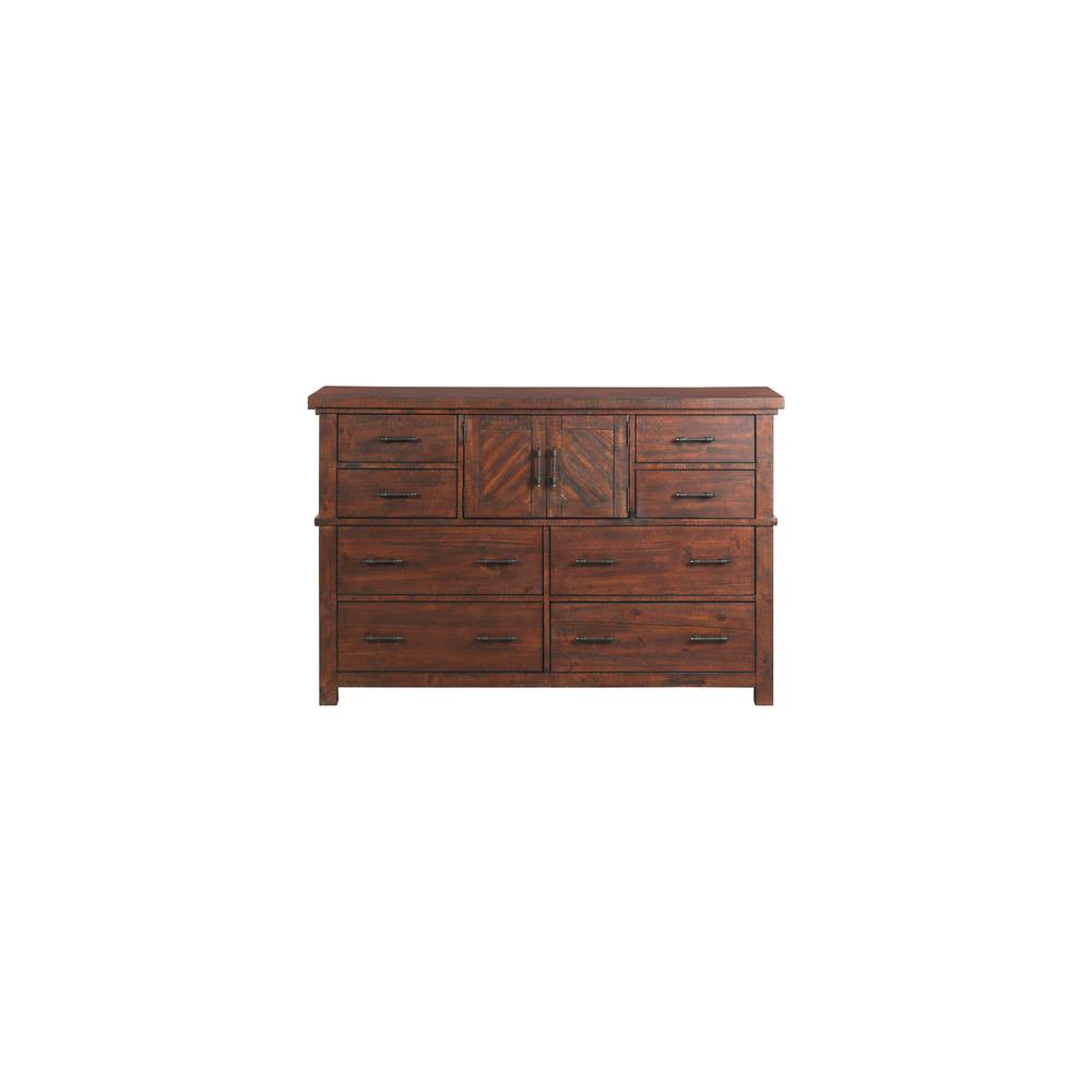 Dex Walnut 8-Drawer Dresser