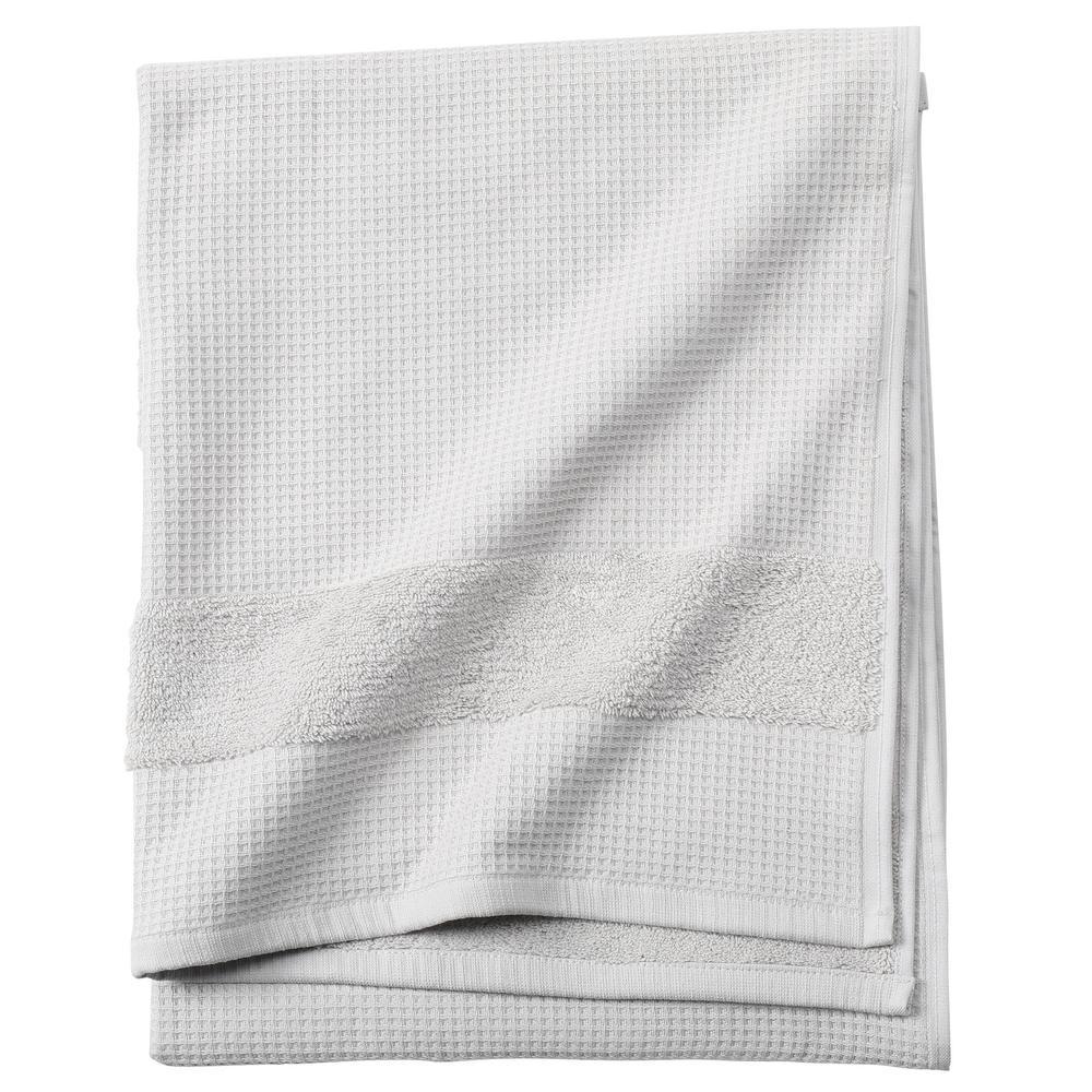 Verona Waffle 1-Piece Bath Towel in Grey