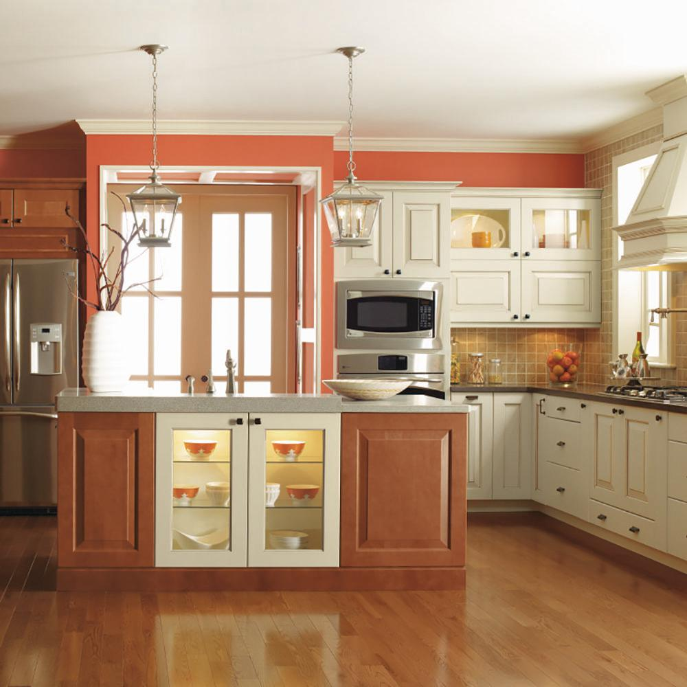 Thomasville Nouveau Custom Kitchen Cabinets Shown In Classic Style Hdinsttssd The Home Depot