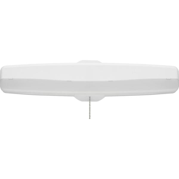 Lithonia Lighting 18 In White Led Closet Light With Pull Chain Fmmcl 18 840 S1 M4 The Home Depot