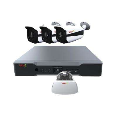 Aero HD 4-Channel 5MP 1TB Video Surveillance Security System with 4 Indoor/Outdoor Cameras