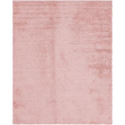Davos Shag Dusty Rose Pink 8 ft. x 10 ft. Area Rug