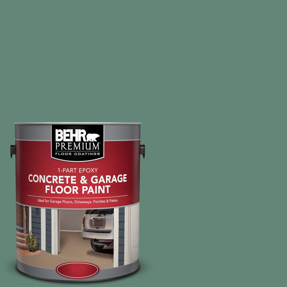 1 gal. #PFC-44 Green Adirondack 1-Part Epoxy Satin Interior/Exterior Concrete and Garage Floor Paint