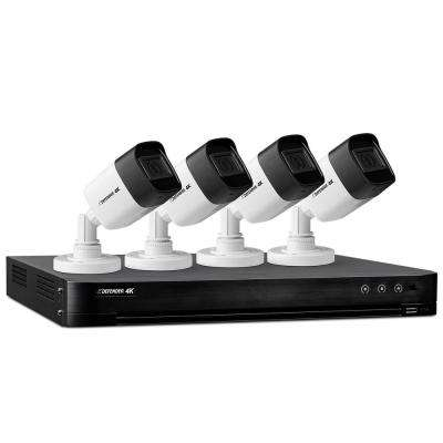 Ultra HD 4K (8MP) 4 Channel 1TB DVR Security Camera System with Remote Viewing and 4 Cameras
