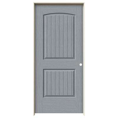 36 in. x 80 in. Santa Fe Stone Stain Left-Hand Solid Core Molded Composite MDF Single Prehung Interior Door