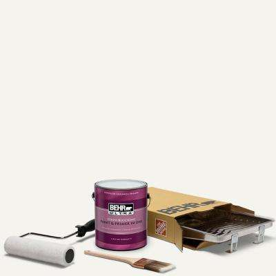 1 gal. #75 Polar Bear Ultra Eggshell Enamel Interior Paint and 5-Piece Wooster Set All-in-One Project Kit