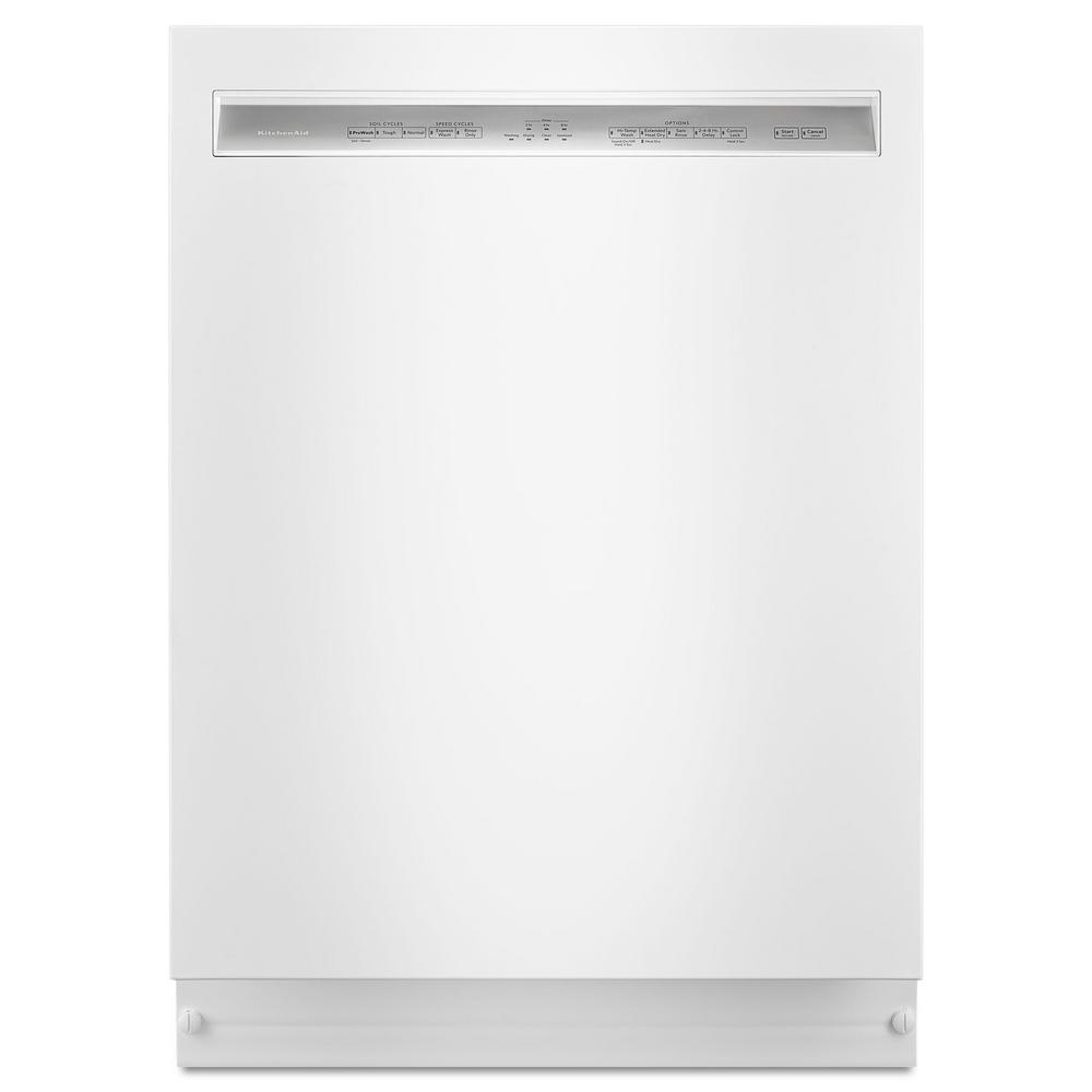 Front Control Built-in Tall Tub Dishwasher in White with ProWash, 46