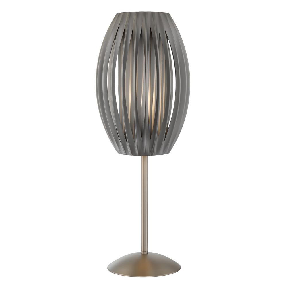Filament design 25 in stainless steel table lamp with gray fabric stainless steel table lamp with gray fabric shade aloadofball Choice Image