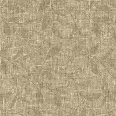 Flora Taupe Leaves Wallpaper