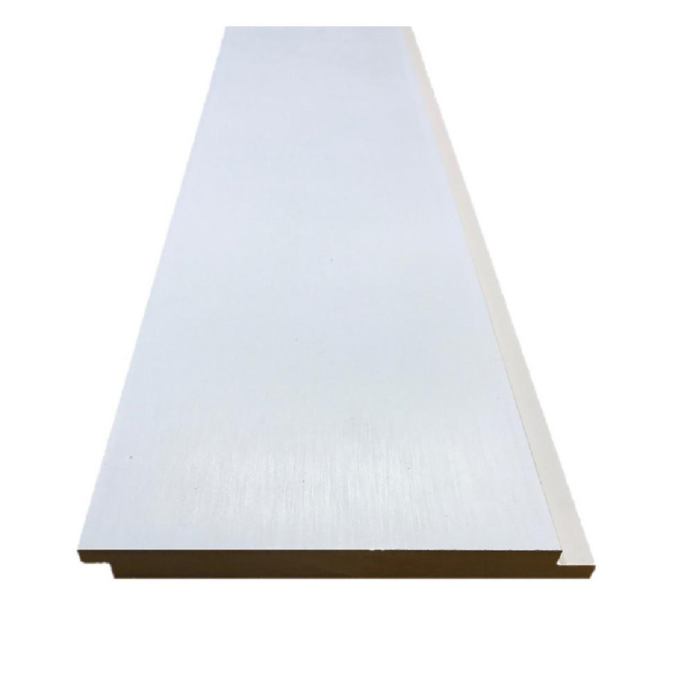 Pac Trim 0.375 in. x 6.000 in. x 8 ft. Primed MDF Shiplap Interior Siding (10-Pack)