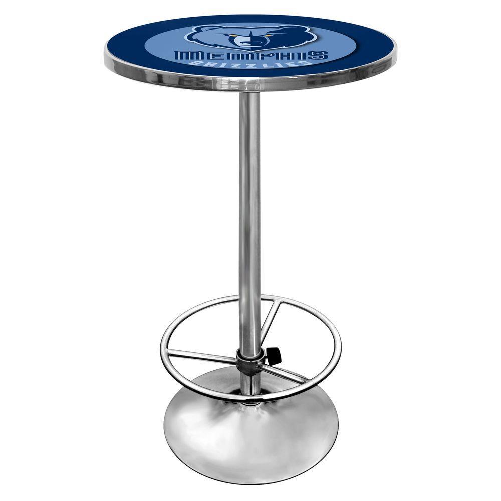 NBA Memphis Grizzlies Chrome Pub/Bar Table, Memphis Grizz...