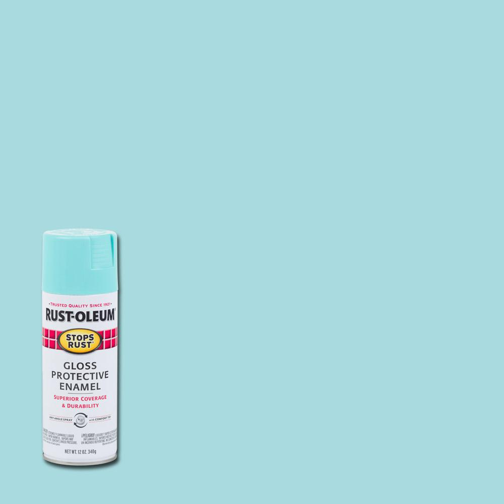 12 oz. Gloss Light Turquoise Protective Enamel Spray Paint