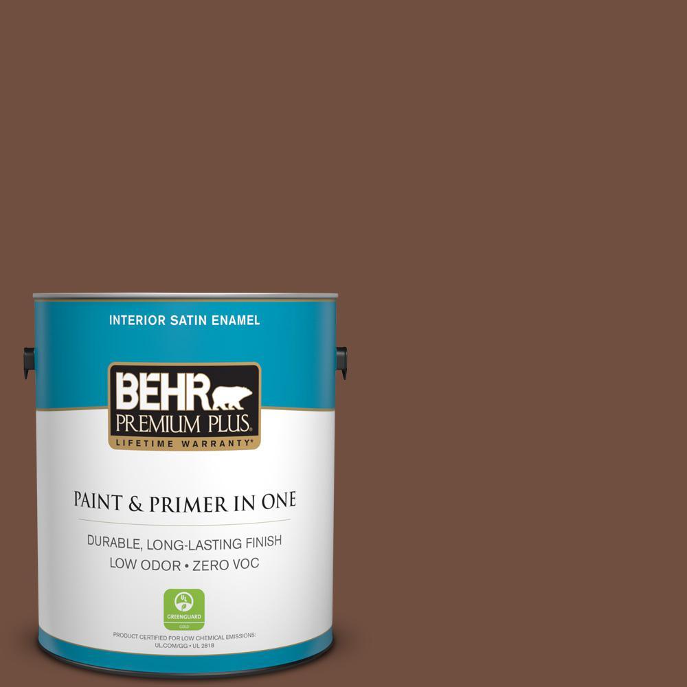 1 gal. #HDC-FL15-04 Cinnamon Crumble Zero VOC Satin Enamel Interior Paint