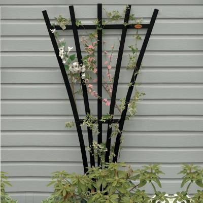Black Recycled Plastic Hartford Fan Trellis