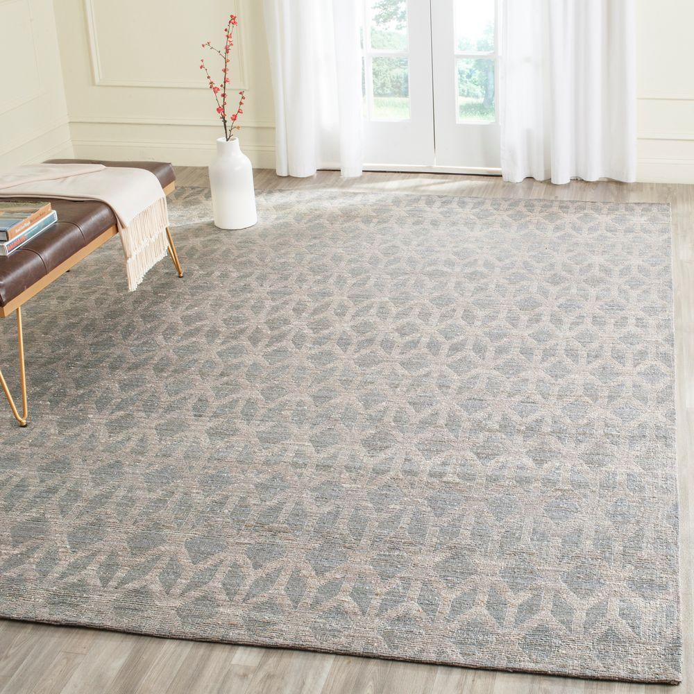 Safavieh Cape Cod Grey Gold 8 Ft X 10 Area Rug Cap415a The Home Depot