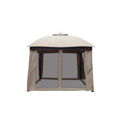 New Structure 10 ft. x 12 ft. Solar LED Lighted Gazebo