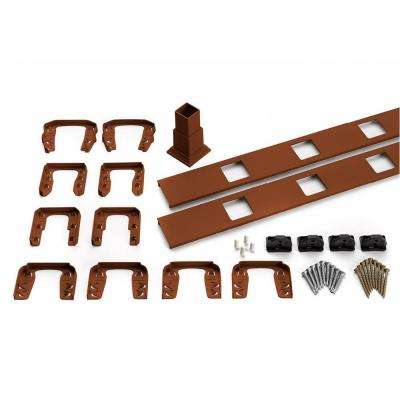 Transcend 91.5 in. Composite Fire Pit Horizontal Square Baluster Accessory Kit