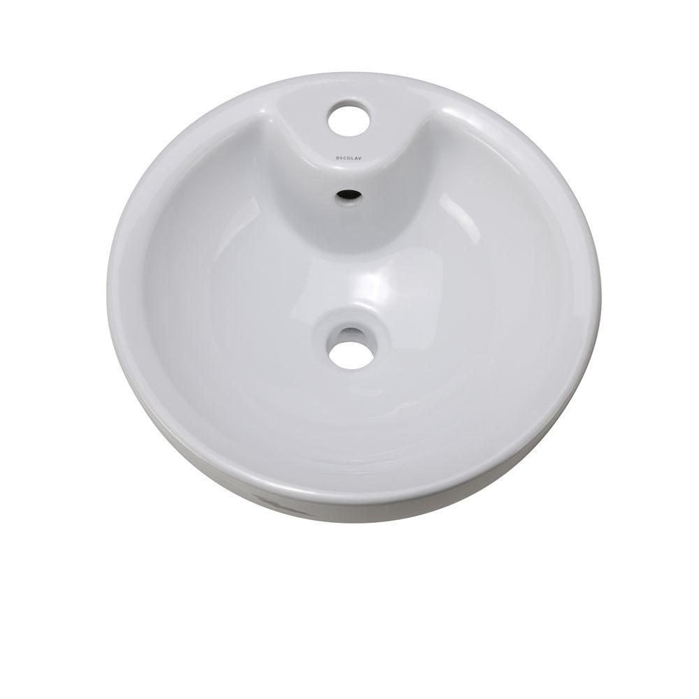 DECOLAV Classically Redefined Vessel Sink in White