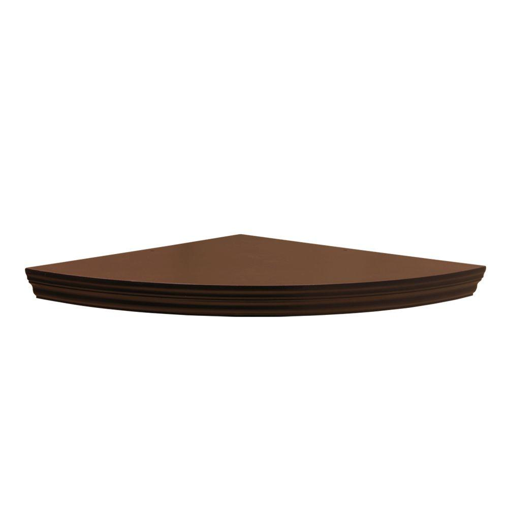 Home Decorators Collection 17.7 in. x 17.7 in. x 1.75 in. Espresso Profile MDF Floating Corner Shelf