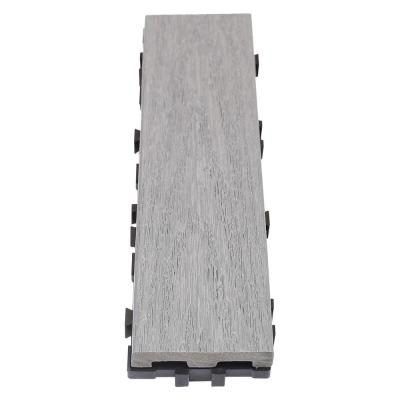 UltraShield Naturale 3 in. x 1 ft. Quick Composite Single Slat Deck Tile in Westminster Gray (4-Pieces per Box)