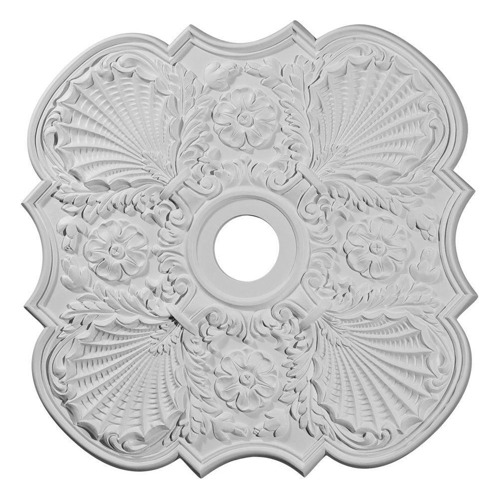 29 in. O.D. x 3-5/8 in. I.D. x 1-3/8 in. P Flower Ceiling Medallion