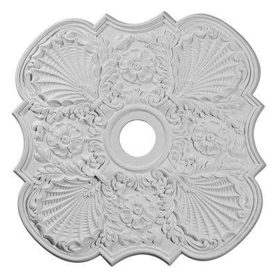 29 in. x 3-5/8 in. ID x 1-3/8 in. Flower Urethane Ceiling Medallion (Fits Canopies up to 6-1/4 in.)